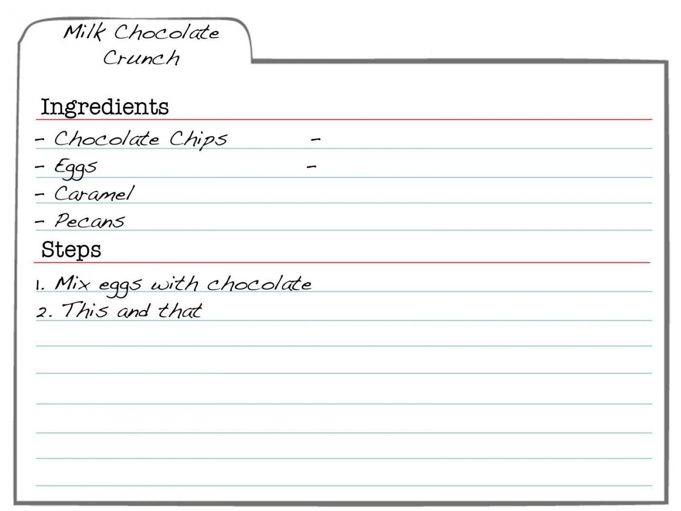 007 Formidable 3 X 5 Recipe Card Template Microsoft Word Idea 1400