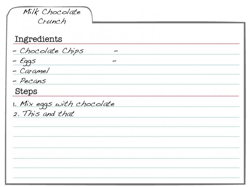 007 Formidable 3 X 5 Recipe Card Template Microsoft Word Idea 868