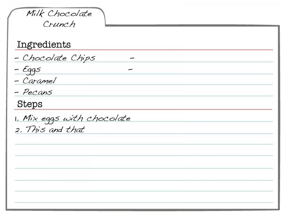 007 Formidable 3 X 5 Recipe Card Template Microsoft Word Idea 960