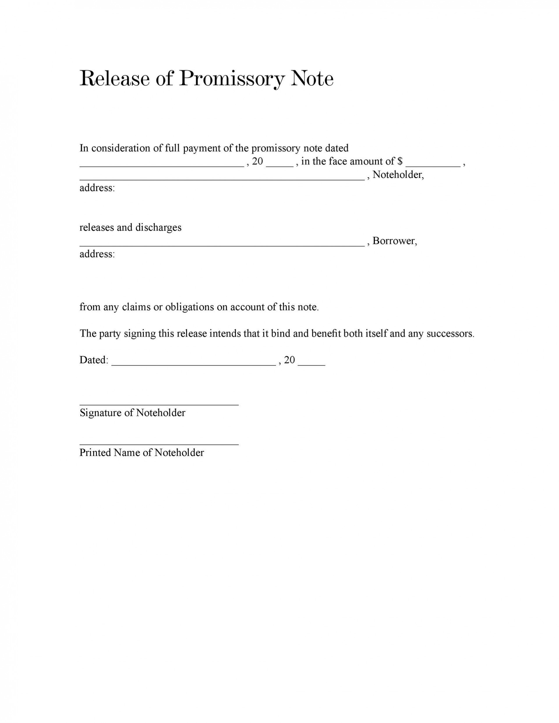 007 Formidable Blank Promissory Note Template Image  Form Free Download1920