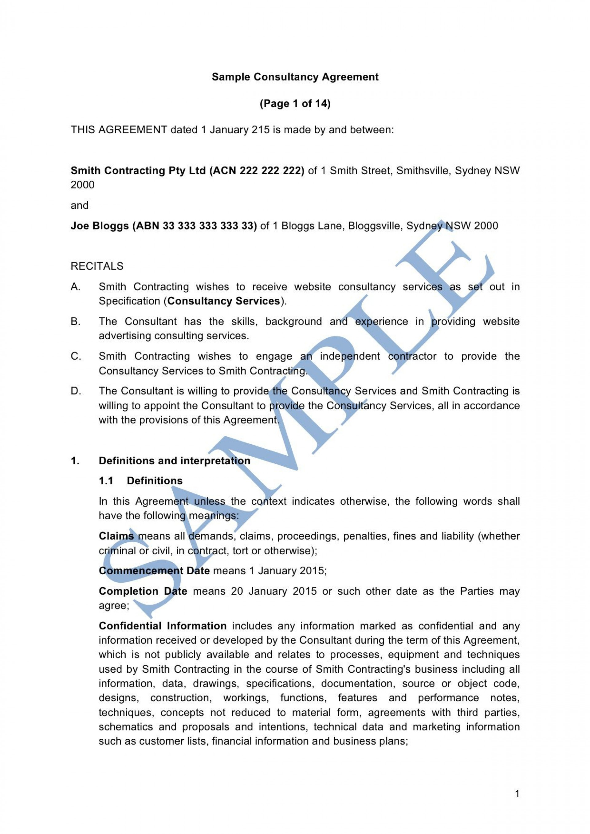 007 Formidable Consulting Agreement Template Word High Def  Sample Free1920