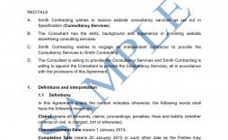 007 Formidable Consulting Agreement Template Word High Def  Sample Free