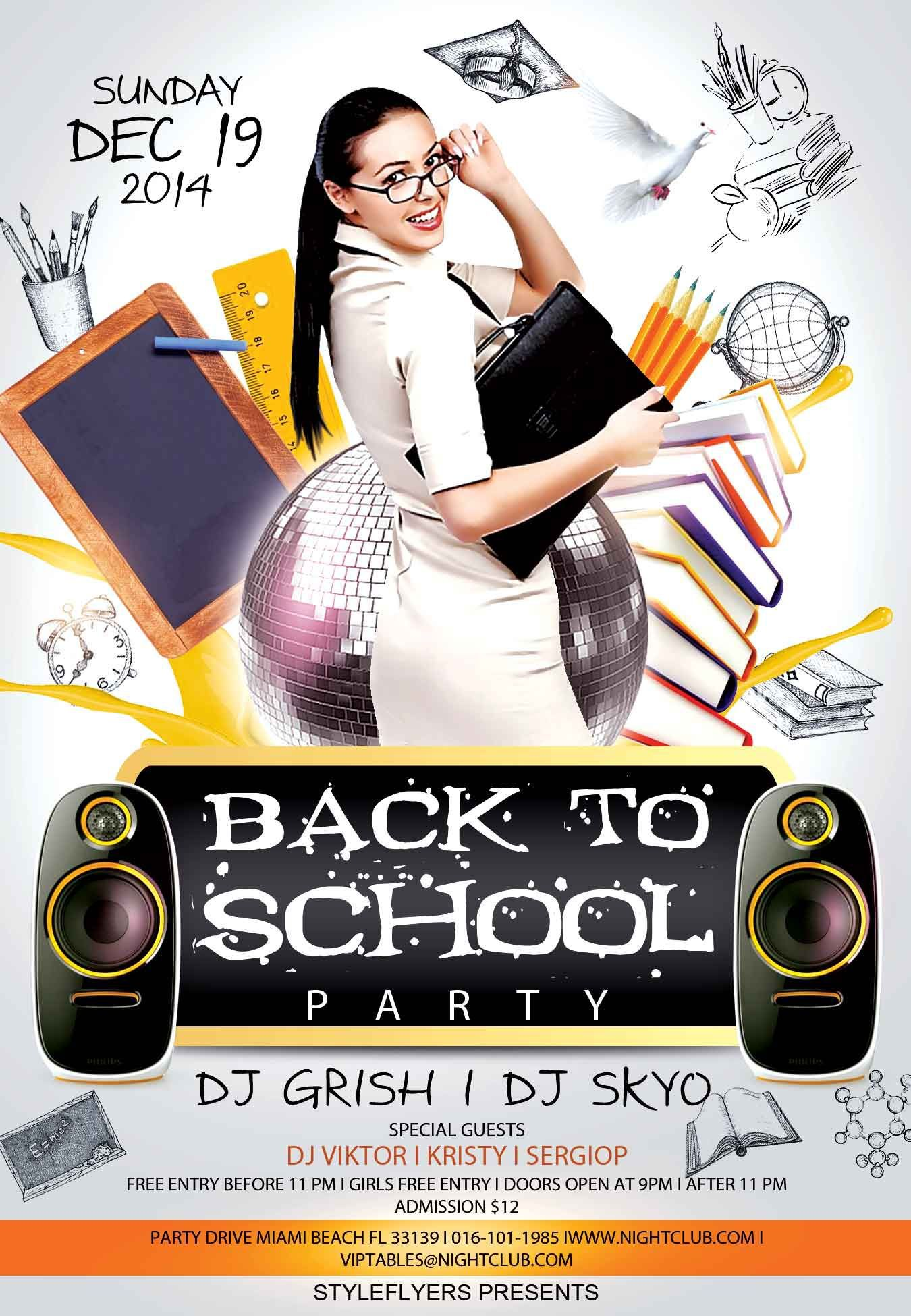007 Formidable Free Back To School Flyer Template Psd Idea Full