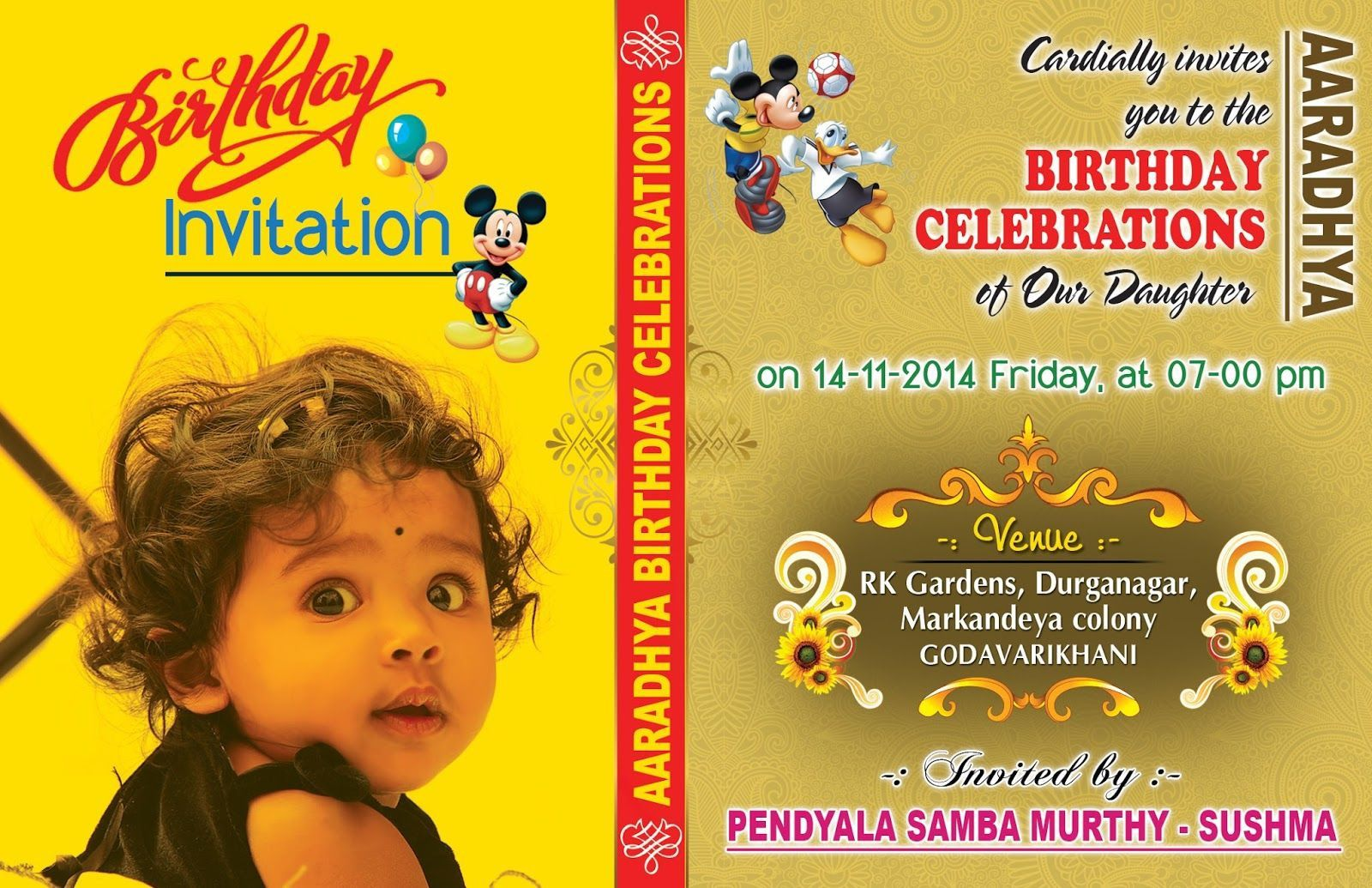 007 Formidable Free Online Birthday Invitation Card Maker With Name And Photo Idea Full