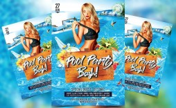 007 Formidable Free Pool Party Flyer Template Psd High Def  Photoshop