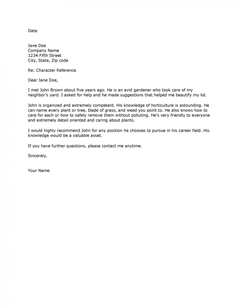 007 Formidable Free Reference Letter Template From Employer Inspiration  For Employment Word960