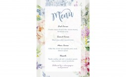 007 Formidable Free Wedding Menu Template Highest Clarity  Templates Printable For Mac