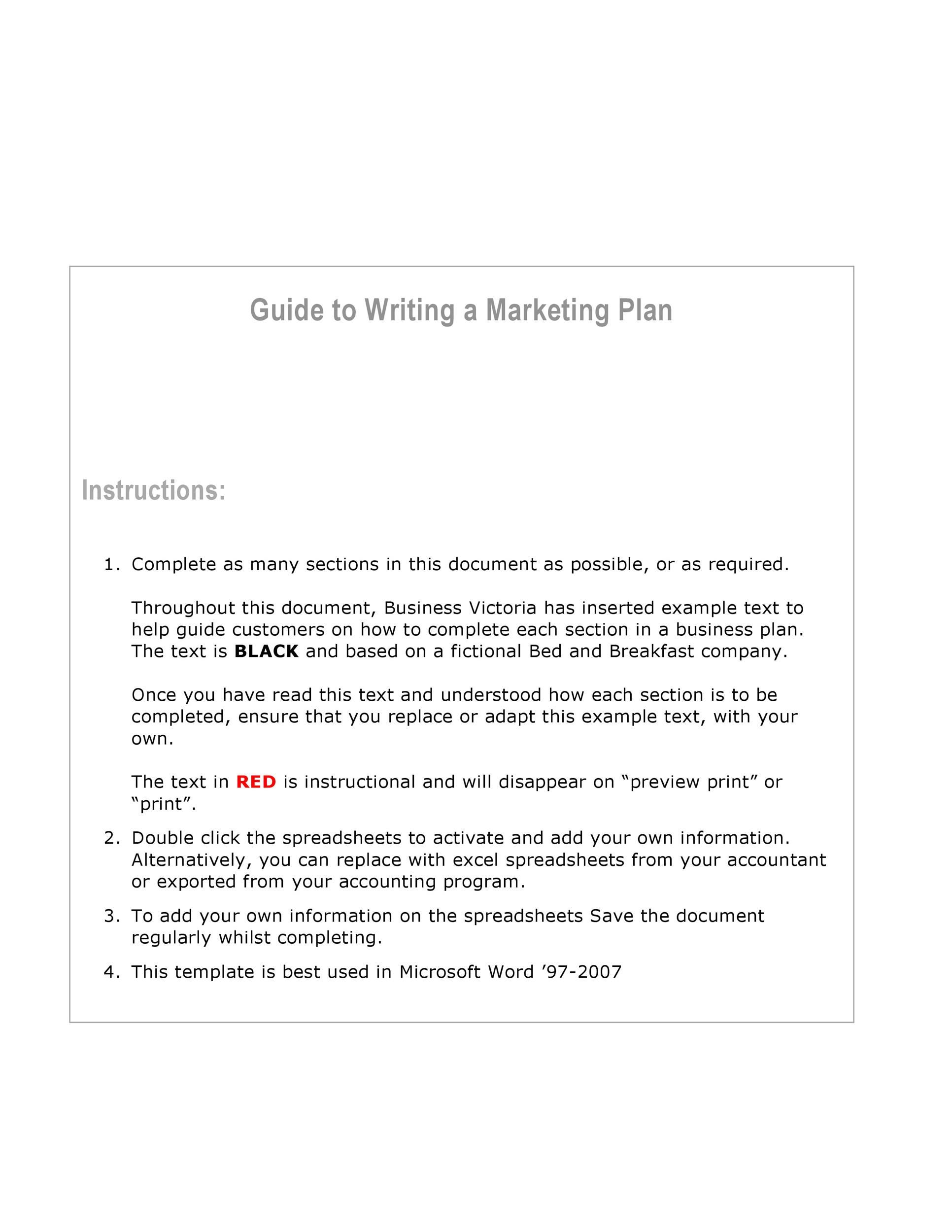 007 Formidable Marketing Plan Template Word Picture  Free Microsoft Outline (word)Full