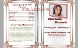 007 Formidable Memorial Card Template Free Download High Resolution