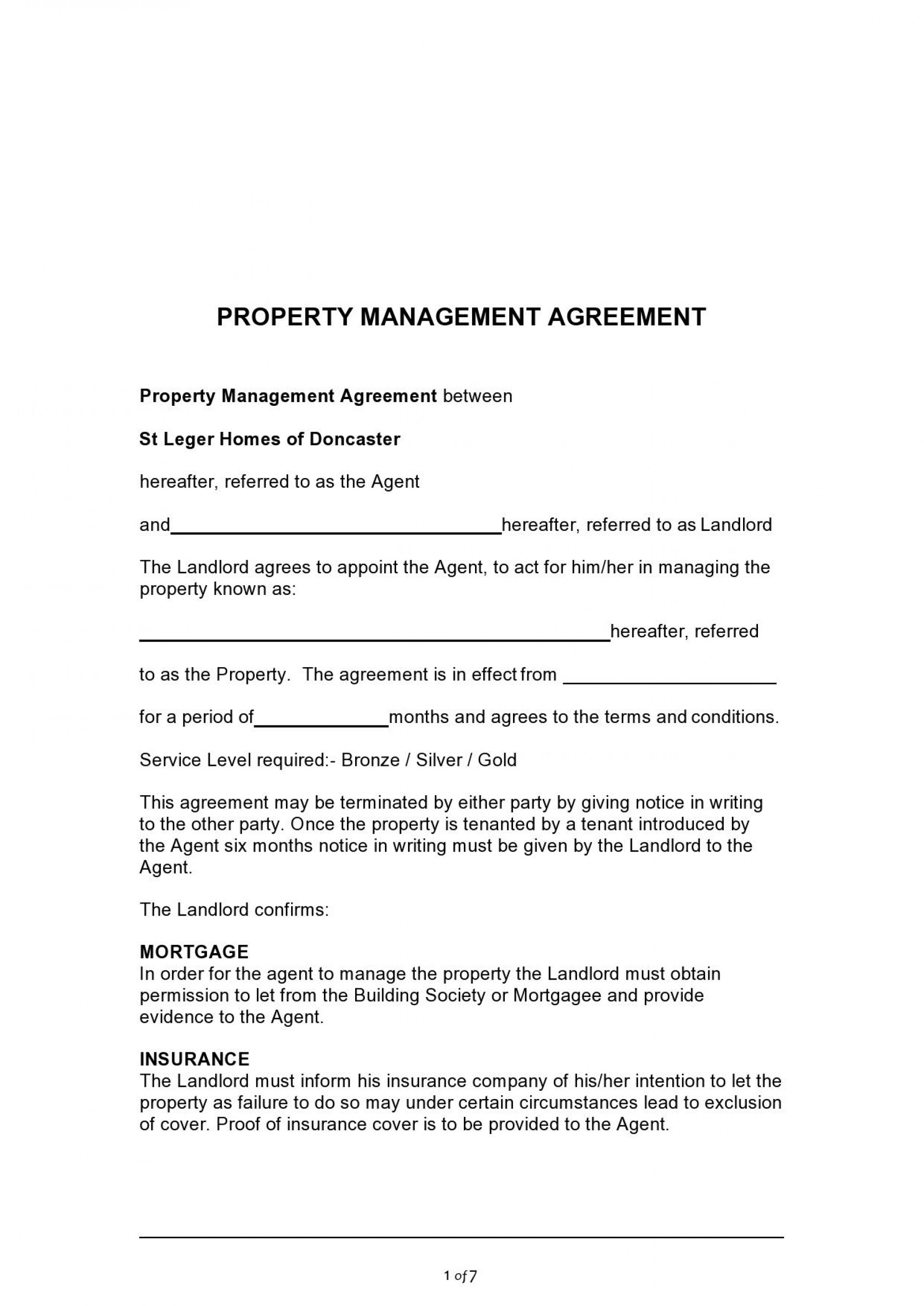 007 Formidable Property Management Agreement Template Ontario Highest Clarity  Contract1920
