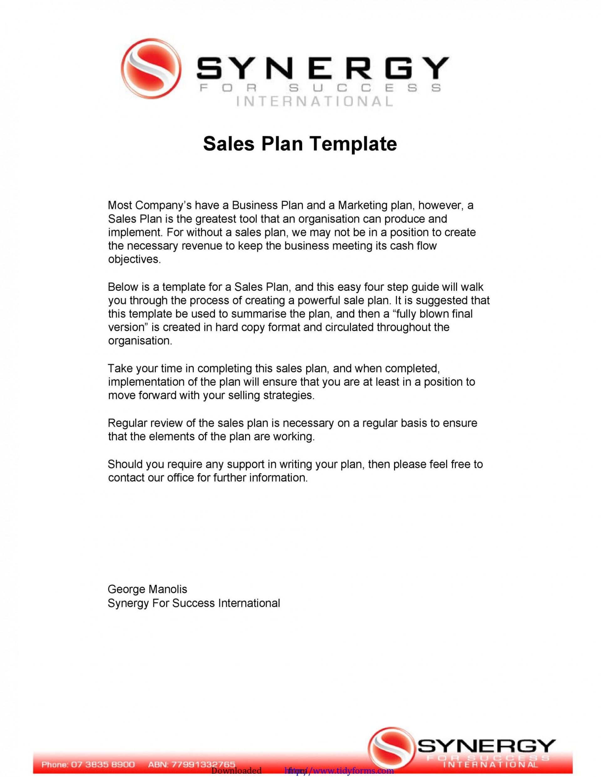 007 Formidable Sale Busines Plan Template Concept  Powerpoint Free Excel Sample1920