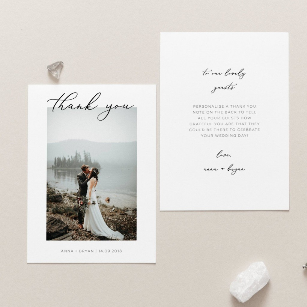 007 Formidable Thank You Note Template Wedding Design  Card Etsy WordingLarge