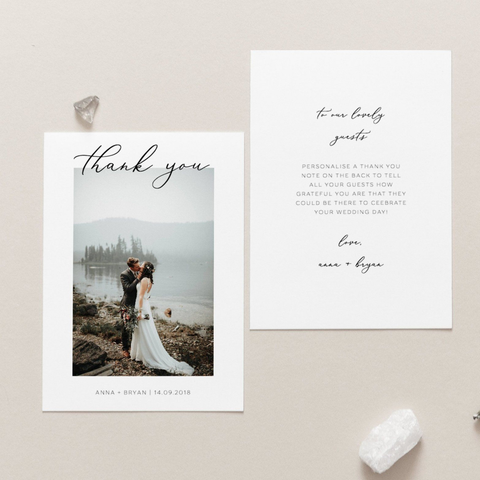 007 Formidable Thank You Note Template Wedding Design  Card Etsy Wording1920