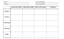 007 Formidable Toddler Lesson Plan Template Picture  Preschool Blank Free Sample