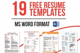 007 Formidable Word Template Free Download Picture  Simple Cv 2019