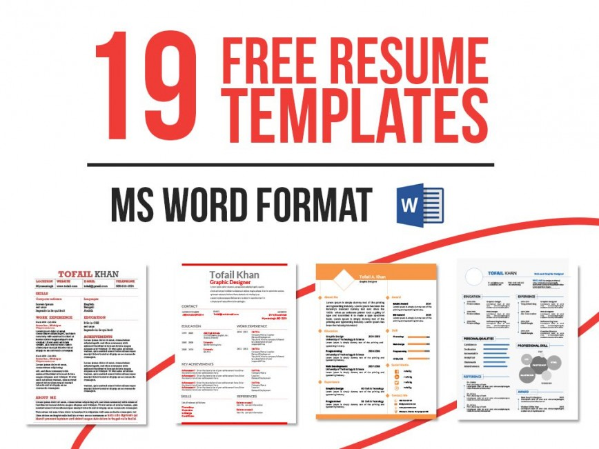 007 Formidable Word Template Free Download Picture  Simple Cv 2019868