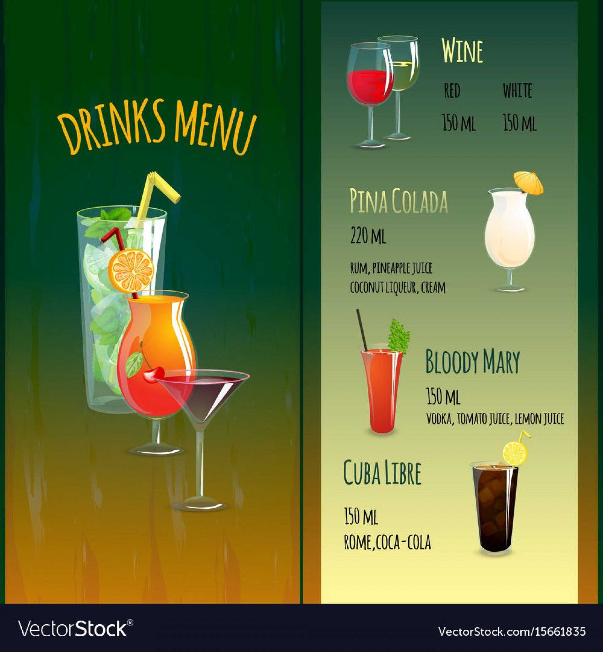 007 Frightening Bar Menu Template Free High Definition  Download Snack1920