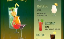 007 Frightening Bar Menu Template Free High Definition  Download Snack
