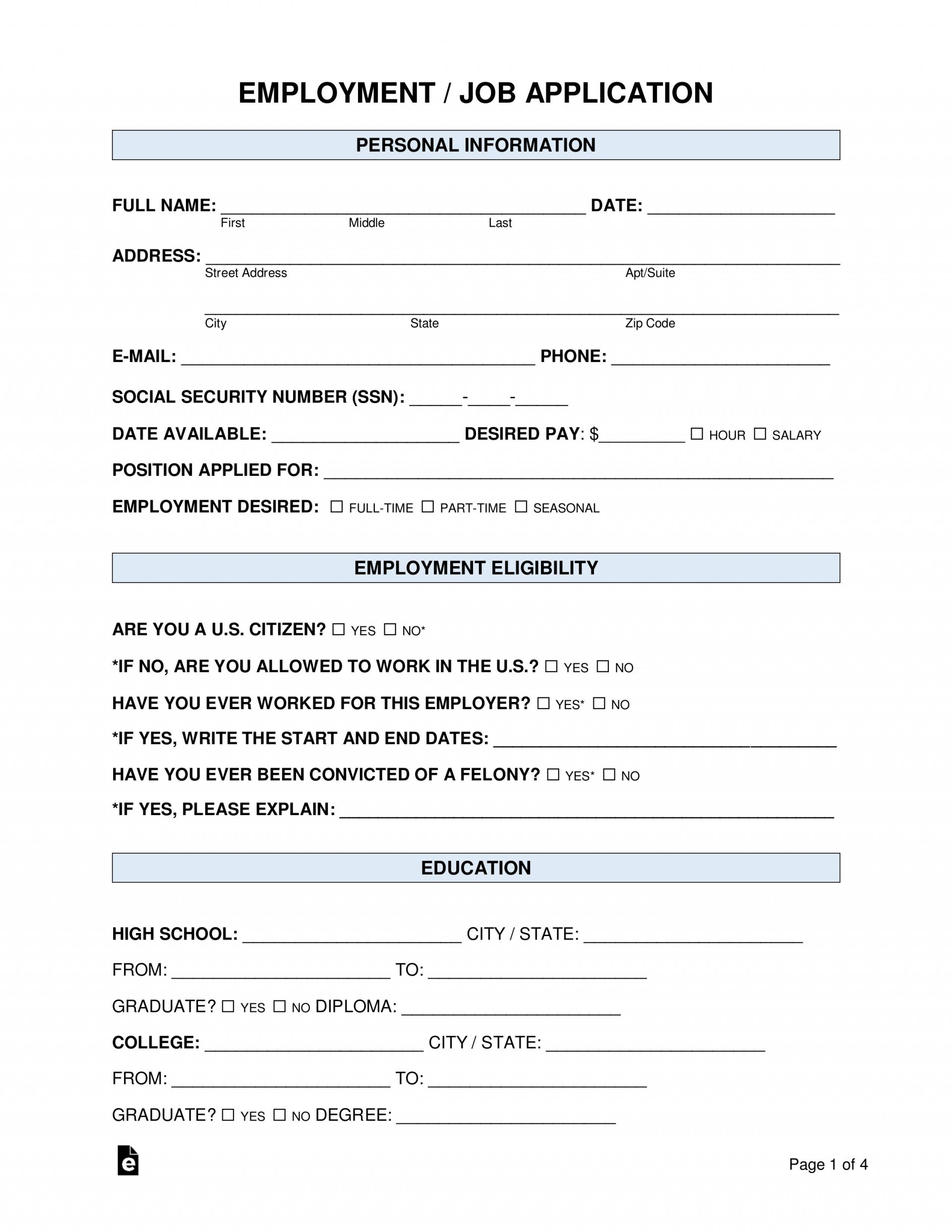 007 Frightening Basic Job Application Template Example  Simple Letter Word1920