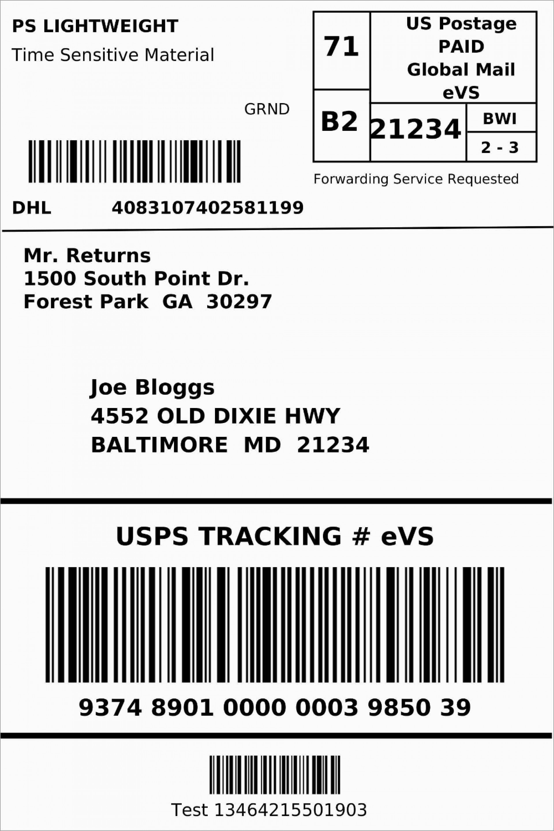 007 Frightening Blank Shipping Label Template Highest Quality  Word Free Printable1920