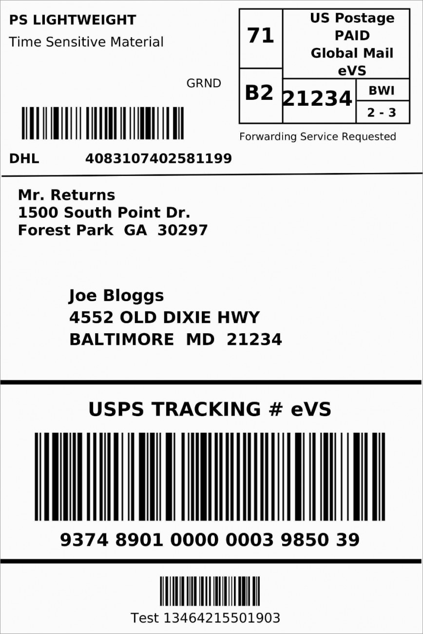 007 Frightening Blank Shipping Label Template Highest Quality  Free Printable