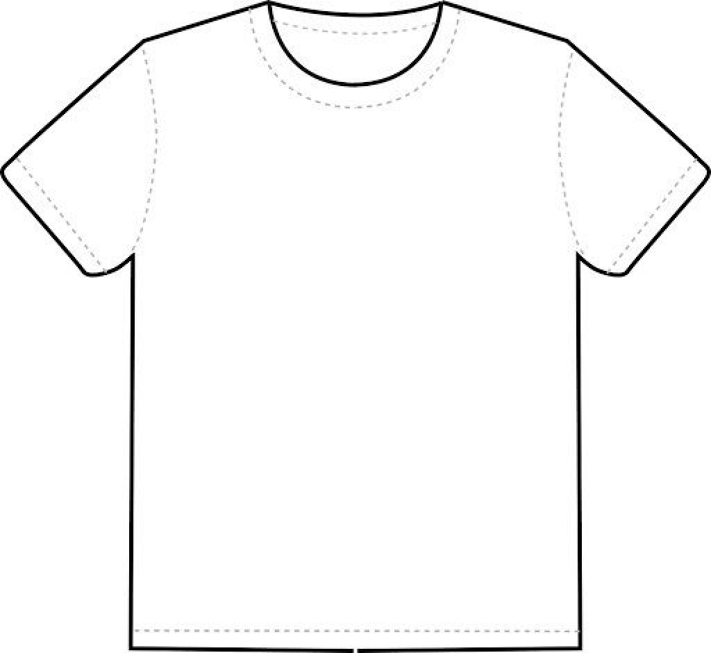 007 Frightening Blank Tee Shirt Template Photo  T Design Pdf Free T-shirt Front And Back DownloadLarge