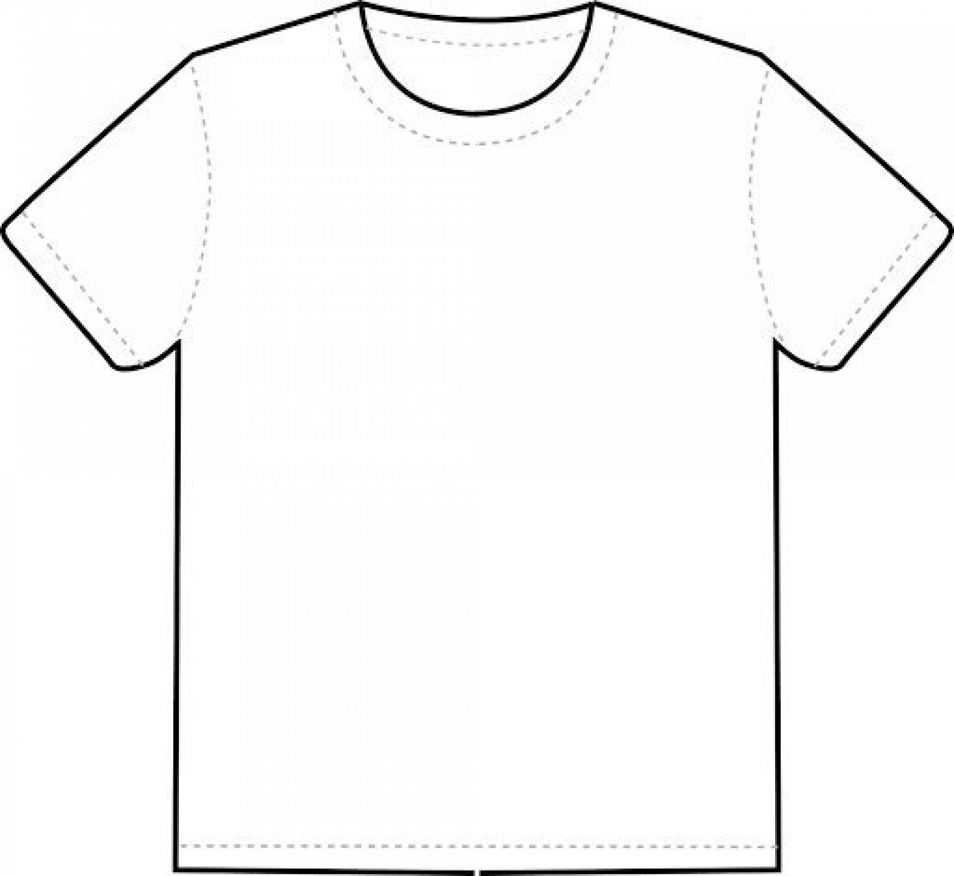 007 Frightening Blank Tee Shirt Template Photo  T Design Pdf Free T-shirt Front And Back Download1920