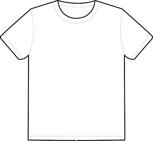 007 Frightening Blank Tee Shirt Template Photo  T Design Pdf Free T-shirt Front And Back DownloadFull