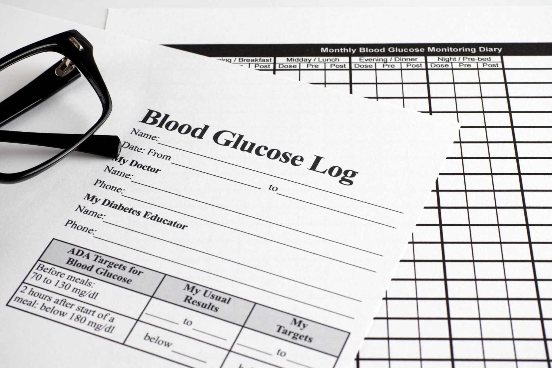 007 Frightening Blood Glucose Log Form Highest Quality  Forms Weekly Sheet Level1920
