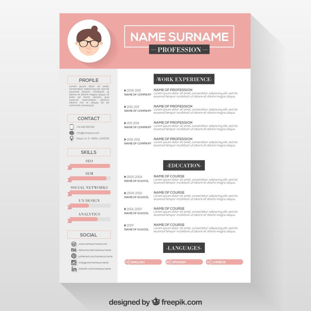 007 Frightening Download Free Resume Template Design  Word Professional 2019 2020Full