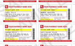 007 Frightening Fake Prescription Label Template Example  Free Bottle