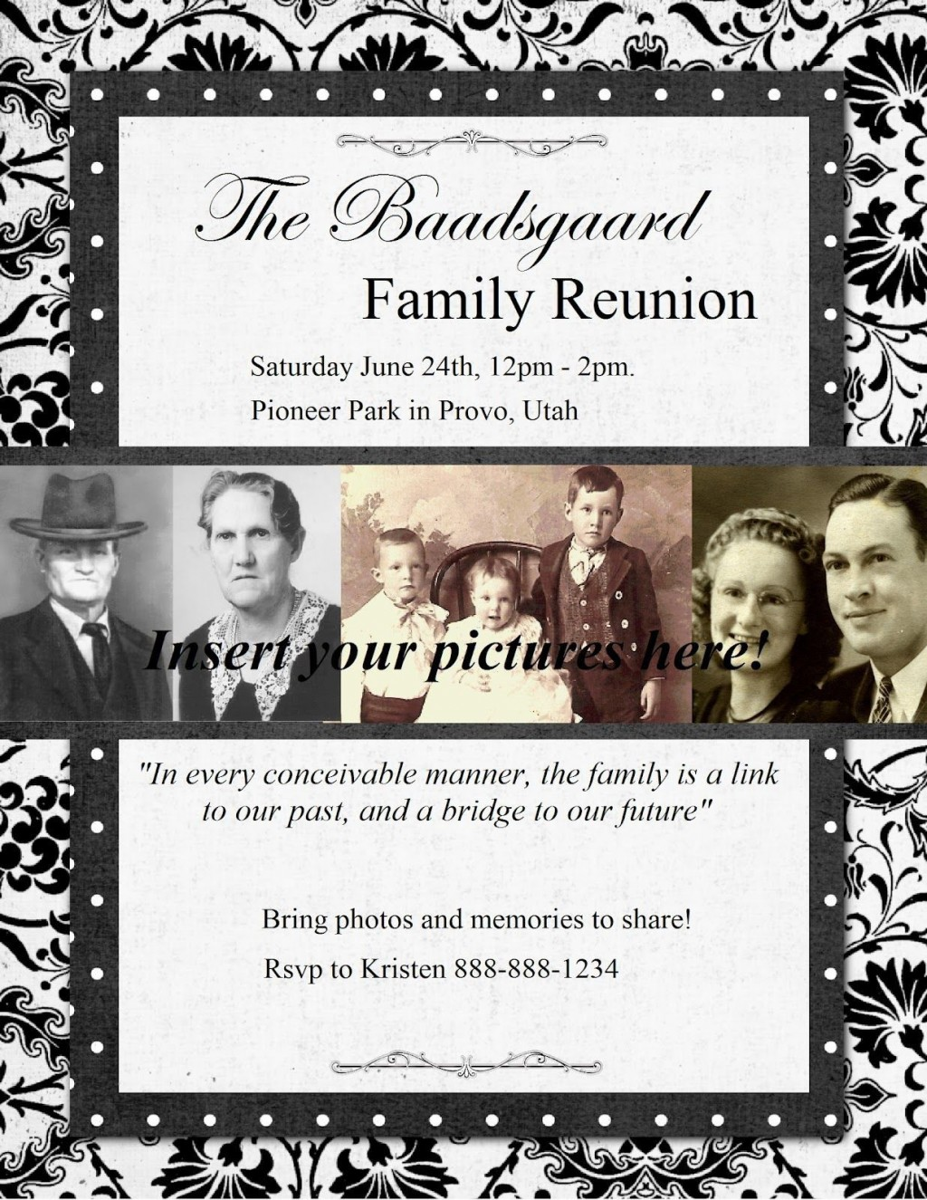 007 Frightening Family Reunion Flyer Template High Resolution  Templates Free ForLarge
