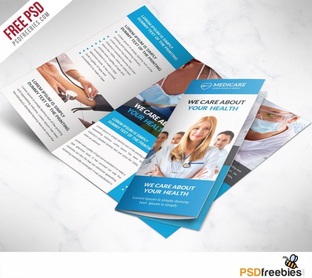 007 Frightening Free Brochure Template Photoshop Download Sample  Tri FoldLarge