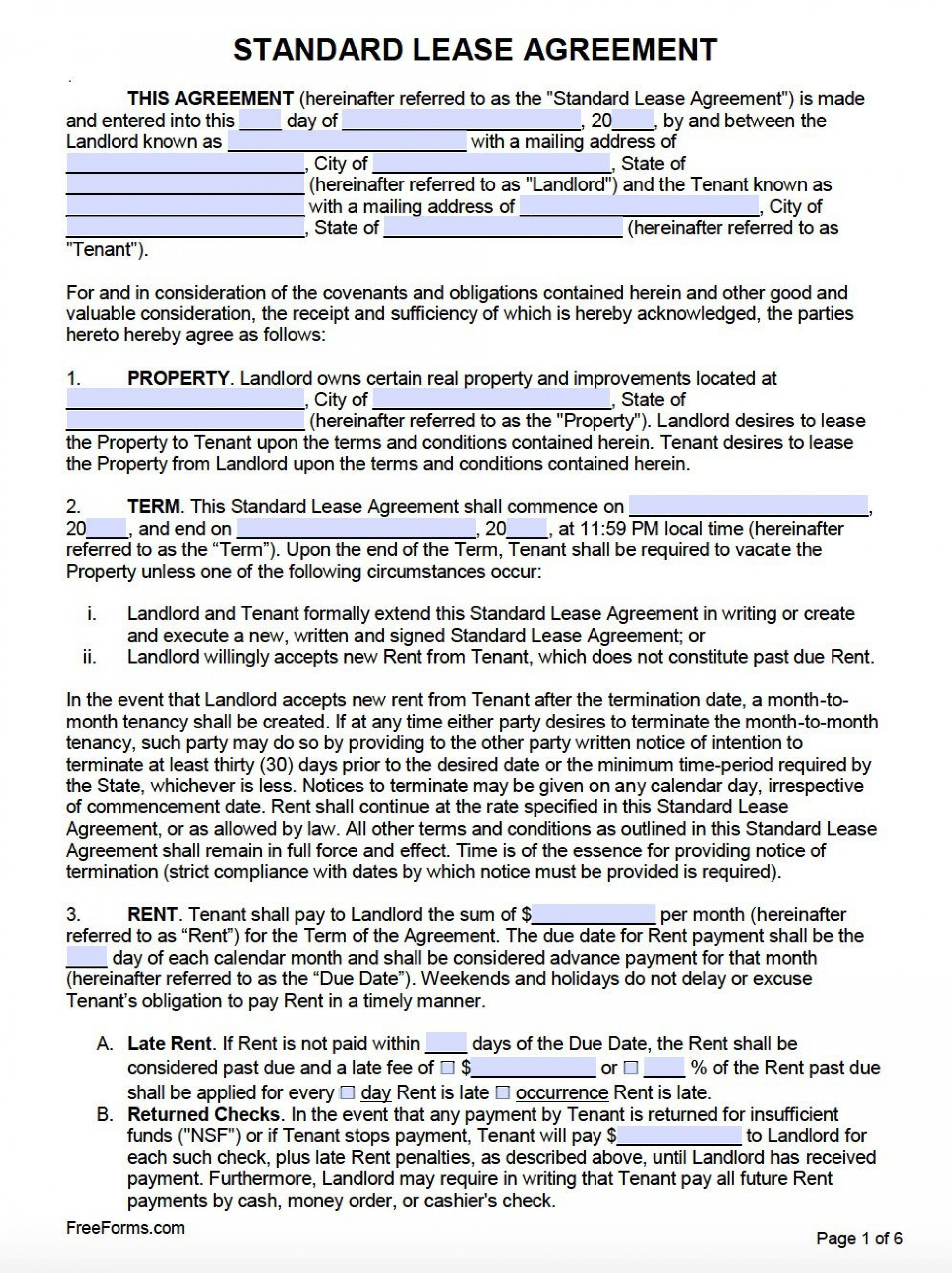 007 Frightening Free Lease Agreement Template Word Inspiration  Doc Residential Commercial Uk1920