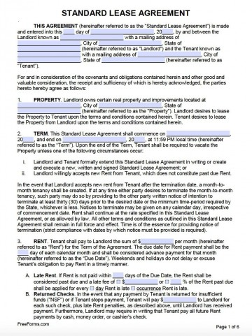007 Frightening Free Lease Agreement Template Word Inspiration  Commercial Residential Rental South Africa360