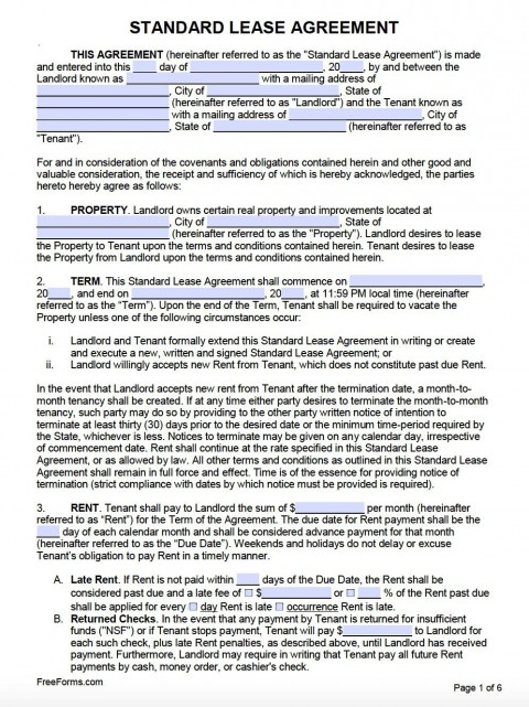 007 Frightening Free Lease Agreement Template Word Inspiration  Commercial Residential Rental South Africa480