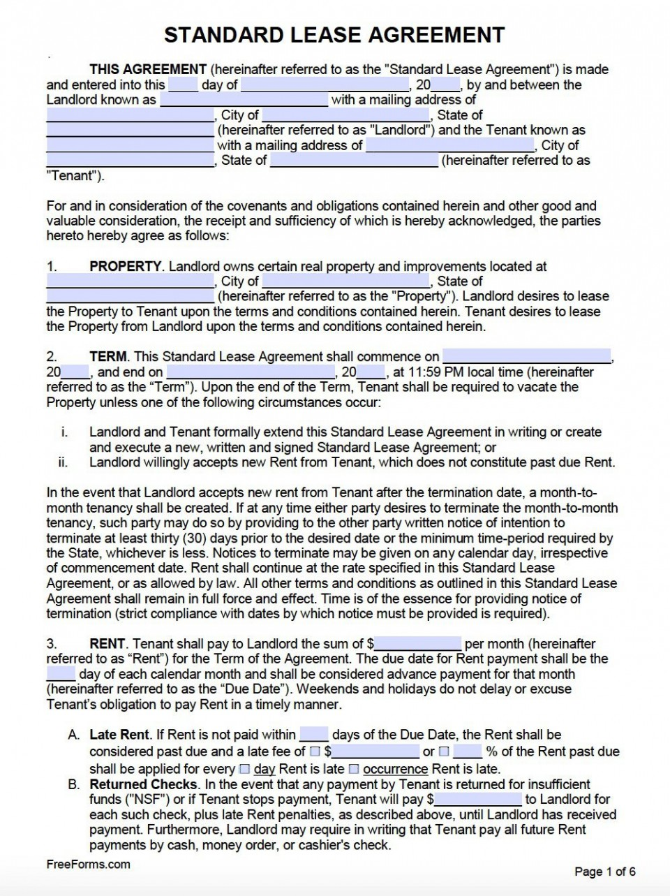 007 Frightening Free Lease Agreement Template Word Inspiration  Commercial Residential Rental South Africa960