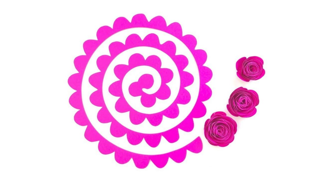 007 Frightening Free Rolled Paper Flower Template For Cricut Design Large