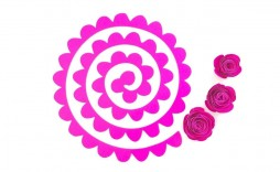 007 Frightening Free Rolled Paper Flower Template For Cricut Design