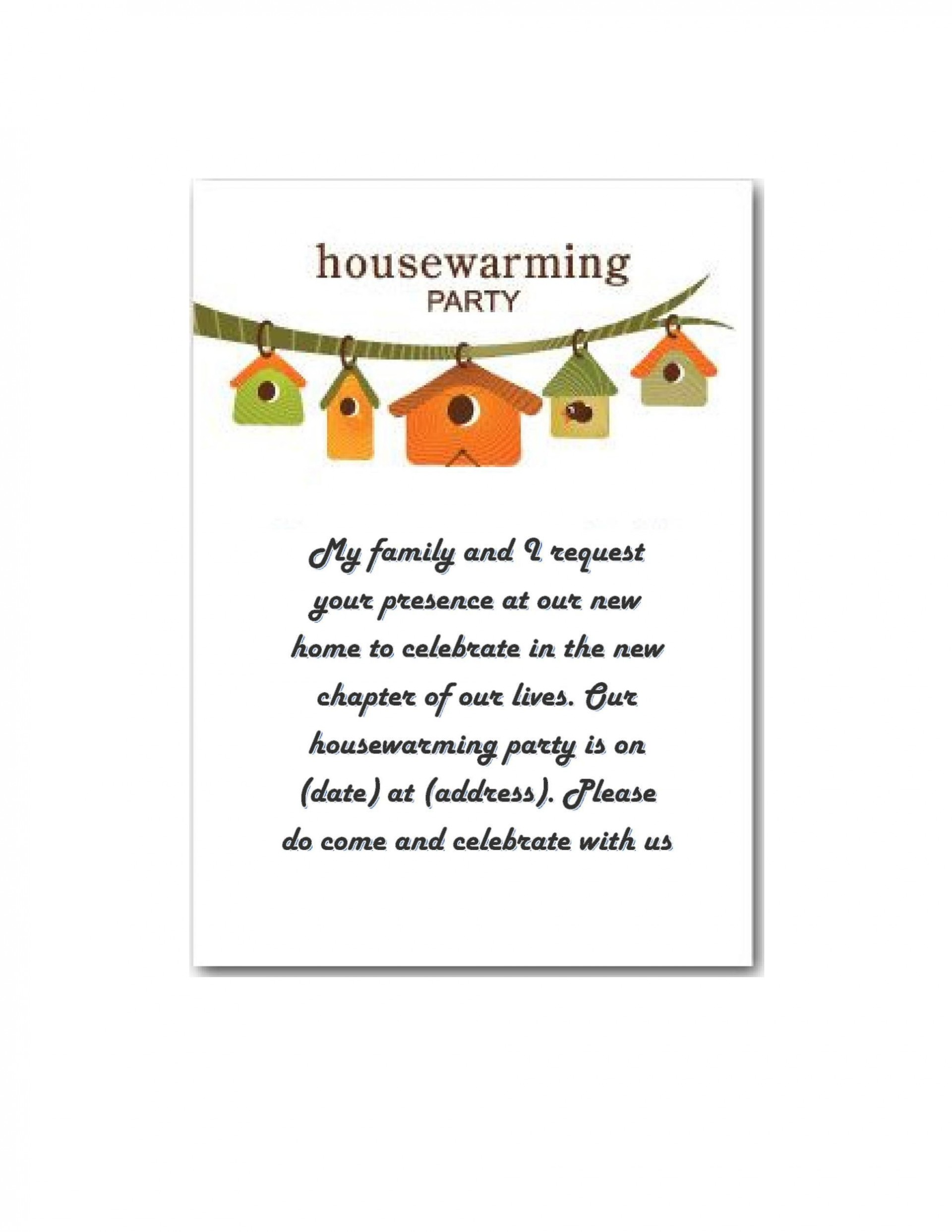 007 Frightening Housewarming Party Invitation Template Sample  Templates Free Download Card1920