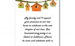 007 Frightening Housewarming Party Invitation Template Sample  Templates Free Download Card