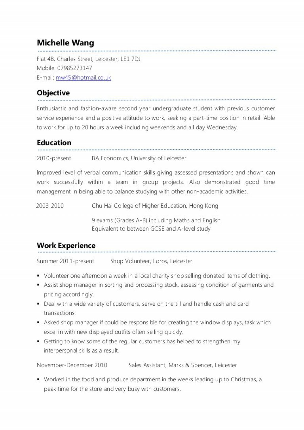 007 Frightening Part Time Job Resume Template Sample  Student Summary ExampleLarge