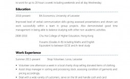 007 Frightening Part Time Job Resume Template Sample  Student Summary Example