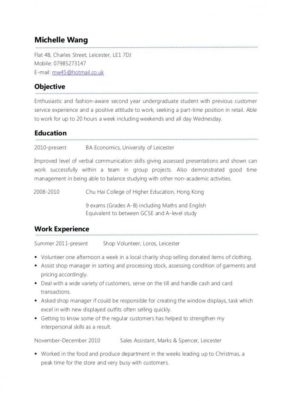 007 Frightening Part Time Job Resume Template Sample  Australian For Cv Student