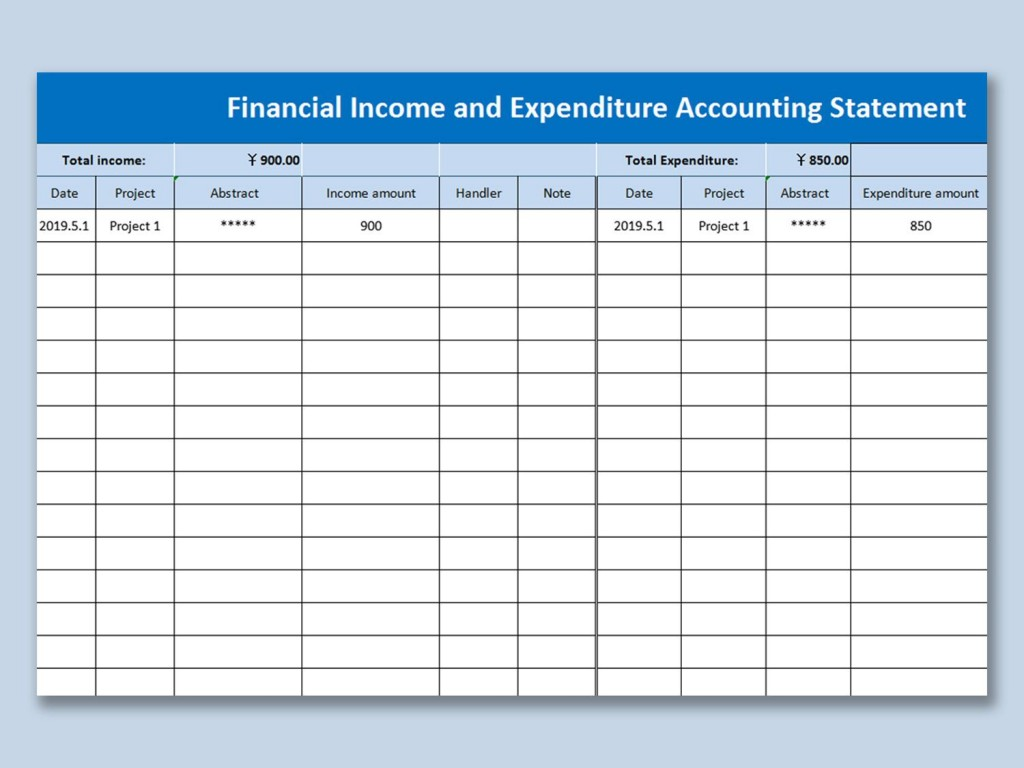 007 Frightening Personal Income Expense Statement Template Excel Example Large