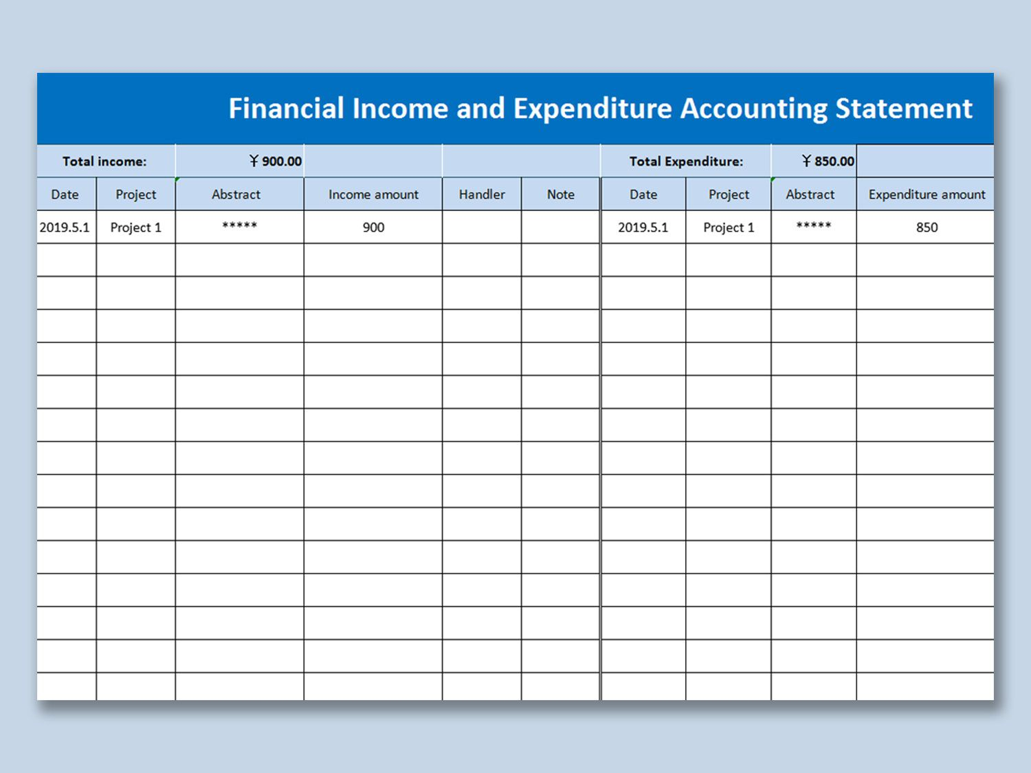 007 Frightening Personal Income Expense Statement Template Excel Example Full