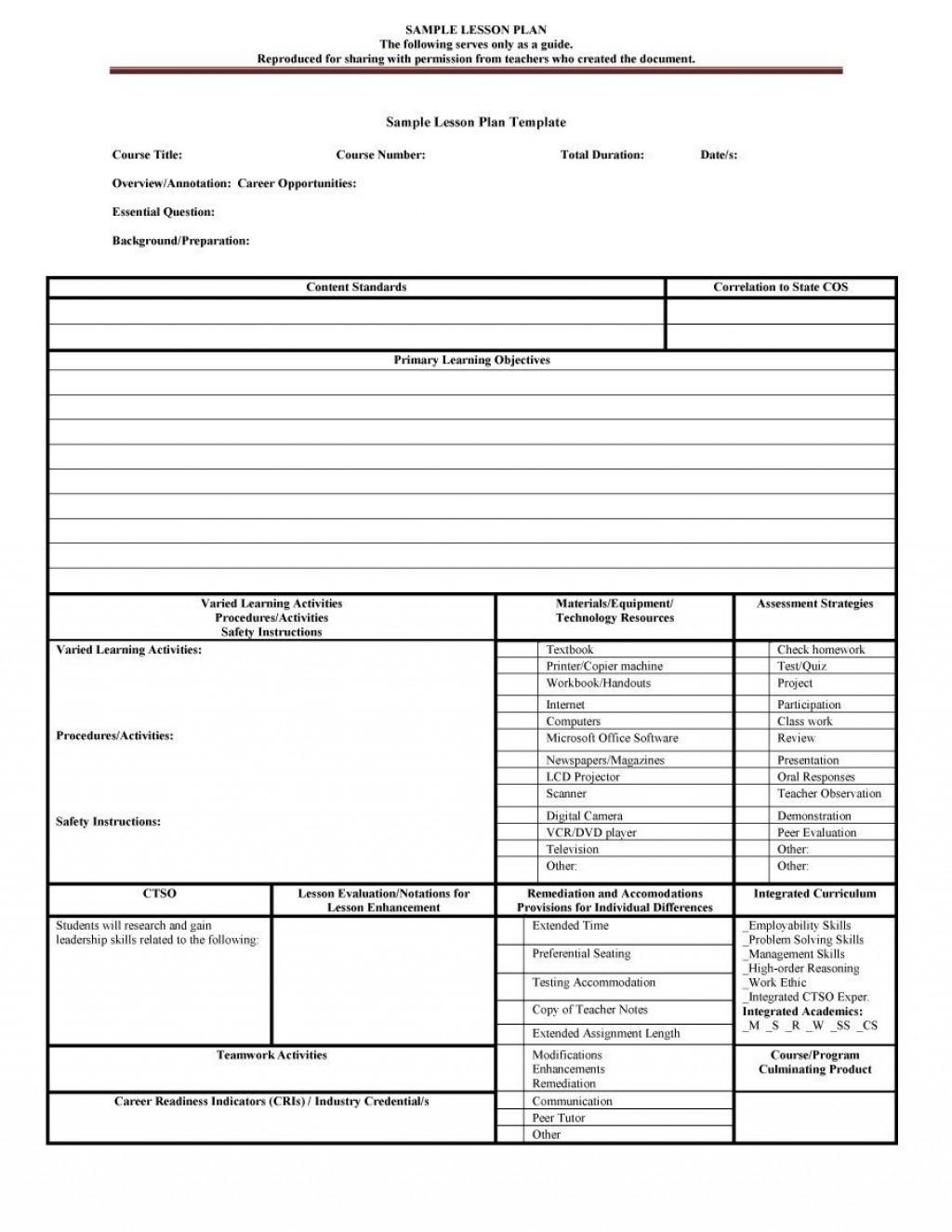 007 Frightening Preschool Lesson Plan Template Idea  Free Printable Creative Curriculum DocLarge