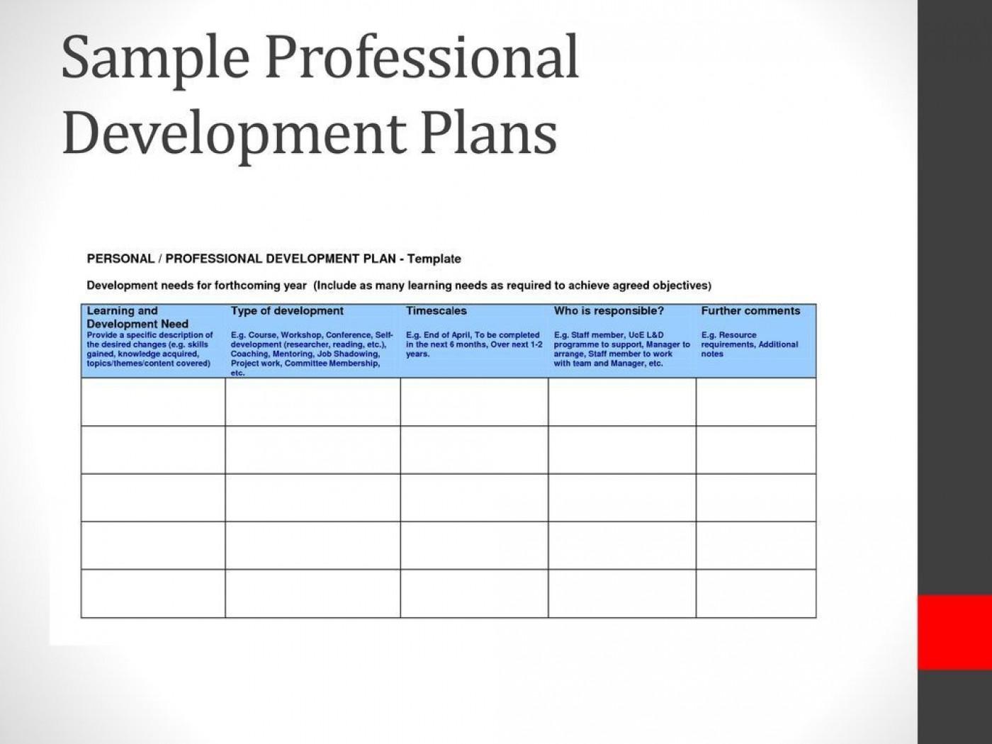 007 Frightening Professional Development Plan Template For Employee Idea  Example Sample1400