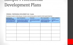 007 Frightening Professional Development Plan Template For Employee Idea  Employees Example