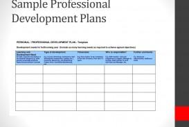 007 Frightening Professional Development Plan Template For Employee Idea  Example Sample